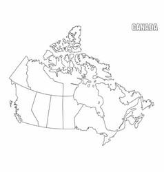 Canada administrative map vector
