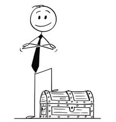 cartoon confident man or businessman standing vector image