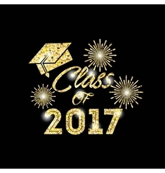 class of 2017 card vector image