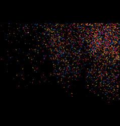 Colorful explosion of confetti colored grainy vector