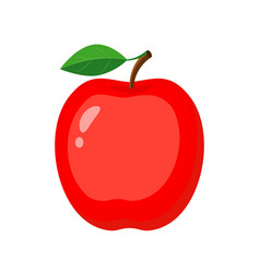 colorful whole red apple vector image