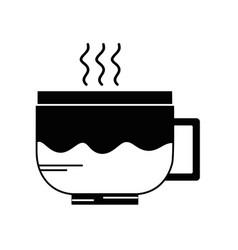 contour tasty espresso coffee vector image