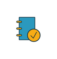 Corporate policies icon outline filled creative vector