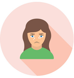 crying woman vector image