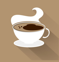 cup of coffee top view flat style with shadow vector image