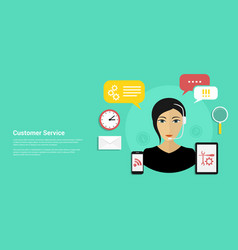 Customer service banner vector