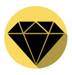 diamond sign flat black icon vector image