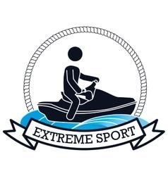 Extreme sport jet ski banner design vector