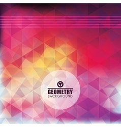 Geometry multicolored background design vector image