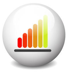 growing bar-chart bar-graph icon graphics vector image
