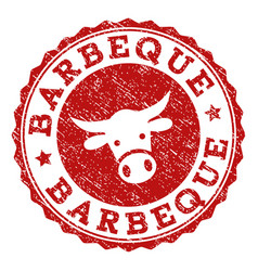Grunge barbeque stamp seal vector