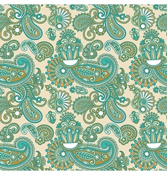 Hand draw ornate floral vintage seamless pattern vector