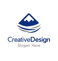 high mountain creative business logo vector image