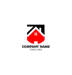 home shield logo template design vector image