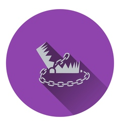 Icon of bear hunting trap vector