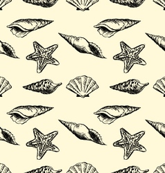 Ink shells pattern vector