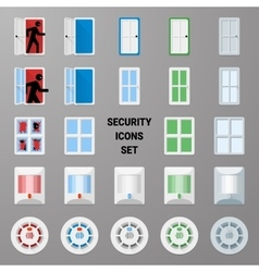 Material icons security set 2 vector image