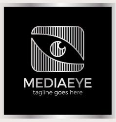 Media eye logo vector