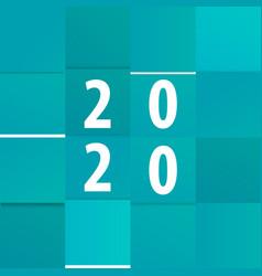 modern calendar template office paper cut design vector image