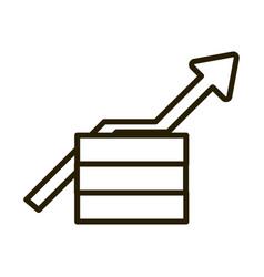 money profit arrow business financial investing vector image