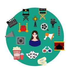 Movie set vector