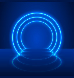 neon show light podium vector image