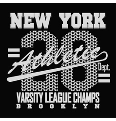 New York Sport T-shirt Design vector