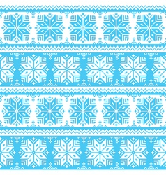 Nordic seamless christmas blue pattern vector image