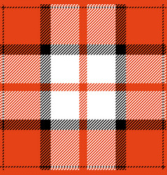 Orange tartan plaid scottish pattern vector