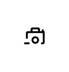 Photo remove icon symbol sign vector