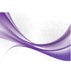 purple color waves on white background vector image