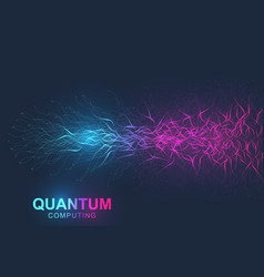 quantum computer technology concept deep learning vector image