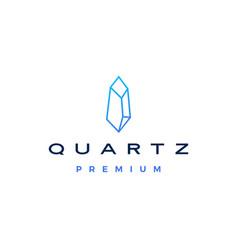 Quartz stone logo icon vector