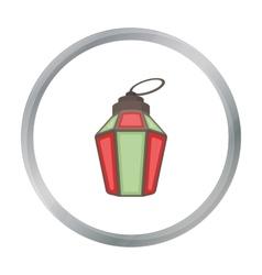 Ramadan lamp icon in cartoon style isolated on vector