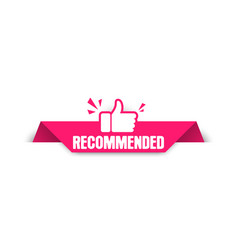 recommended label paper tag for recommend vector image