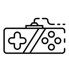 Retro joystick icon outline style vector