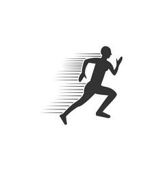 run people sport logo vector image
