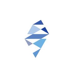Sapphire crystal jewelry logo icon symbol vector