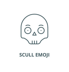 scull emoji line icon linear concept vector image
