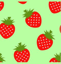 seamless strawberry geometric pattern vector image