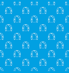 shirt goalkeeper pattern seamless blue vector image