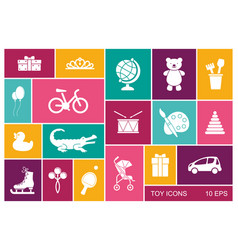 silhouettes toys for children - flat vector image