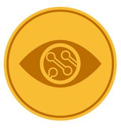 smart lens gold coin vector image