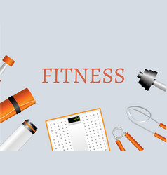 Sports and physical activity equipment vector