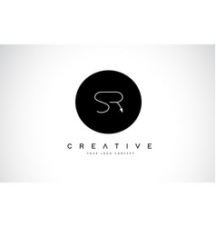 Sr s r logo design with black and white creative vector