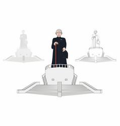 Statue and living museum brazilian catholic vector