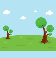 The grassland on a green hill vector