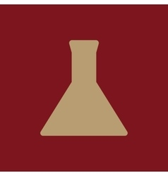 The test-tube icon Flask and chemical analysis vector