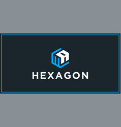 Wa hexagon logo design inspiration vector