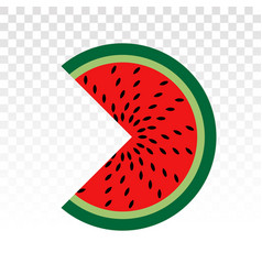 Watermelon fruit slice flat icons for apps vector